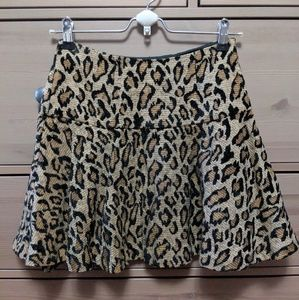 Free People Chenille Cheetah Skirt Size 0